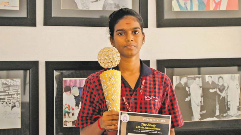 M. Deviga, daughter of a fisherman who died in the 2004 tsunami, got good marks and wants to be a gynaecologist.