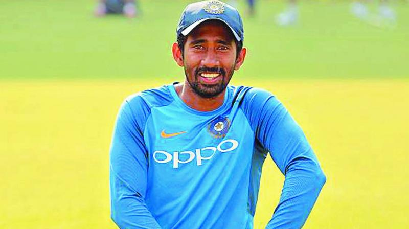 Wriddhiman, who is only three months shy of his 35th birthday, is returning after a career-threatening injury that many believe has been completely mismanaged at the National Cricket Academy. (Photo: File)