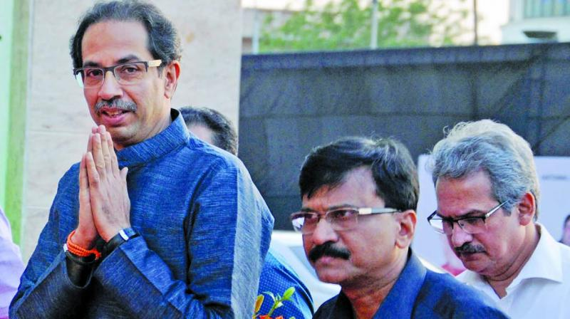 Shiv Sena chief Uddhav Thackeray and party MP Sanjay Raut (Photo: G.N. Jha/File)