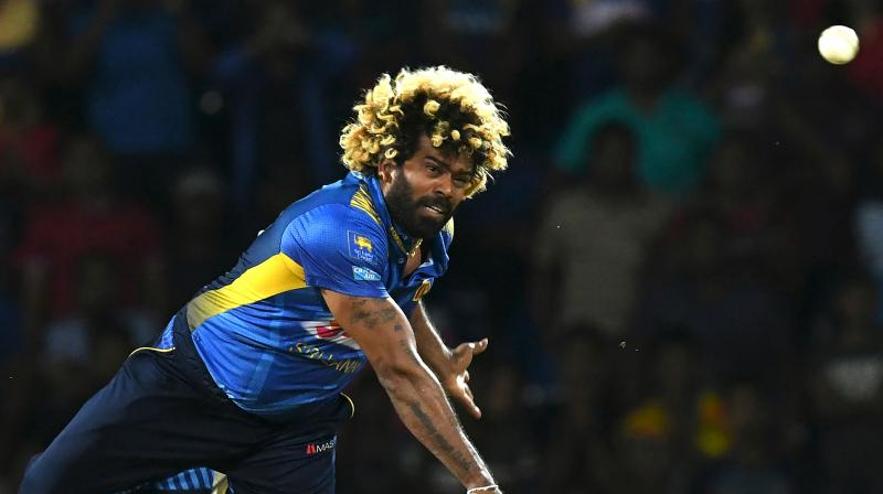 Malinga, along with New Zealand's left-arm spinner Mitchell Santner, have made major gains in the T20I Player Rankings. (Photo: AFP)