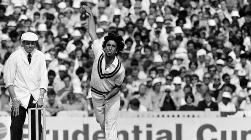 Qadir was known as the dancing bowler due to his peculiar bowling style. (Photo: ICC/Twitter)