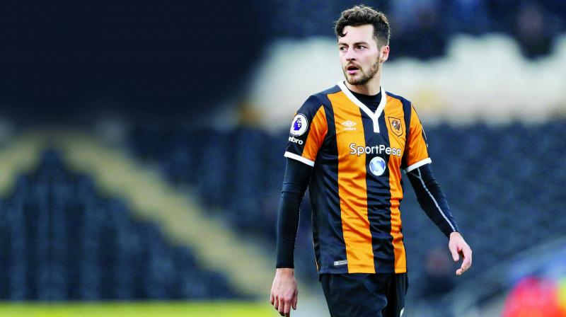 Ryan Mason in a file picture, sporting Hull City colours