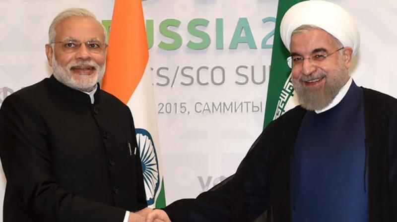 Prime Minister Narendra Modi with Iranian President Hassan Rouhani (Photo: PTI/File)