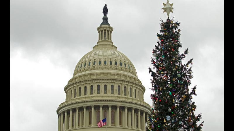 The US government will begin a Christmastime shutdown at midnight. (Photo: AP)