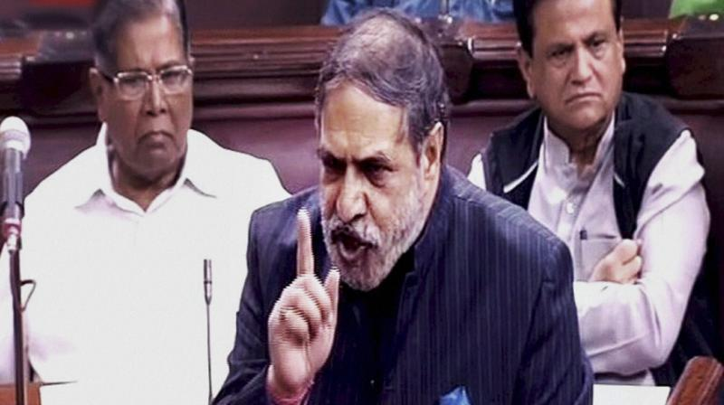 Congress leader Anand Sharma speaks in the Rajya Sabha on the opening of the winter session of Parliament in New Delhi. (Photo: PTI)