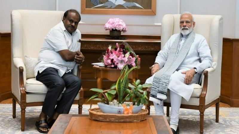Kumaraswamy urged the Prime Minister to expedite the process to release Rs.2064.30 crore as per SDRF/ NDRF norms for drought relief and mitigation. (ANI)