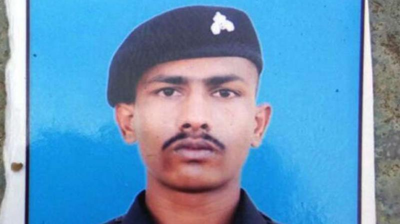 Indian soldier Chandu Chavan, who inadvertently strayed across the border last year. (Photo: File)