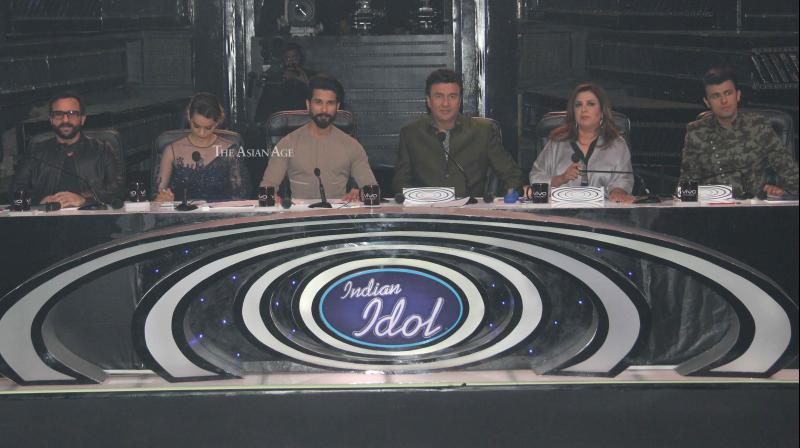 The team of 'Rangoon' promoted their film on the popular reality show 'Indian Idol' on Monday. (Photo: Viral Bhayani)