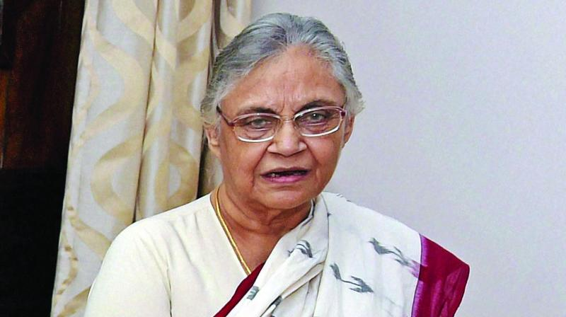 Three-time chief minister Sheila Dikshit