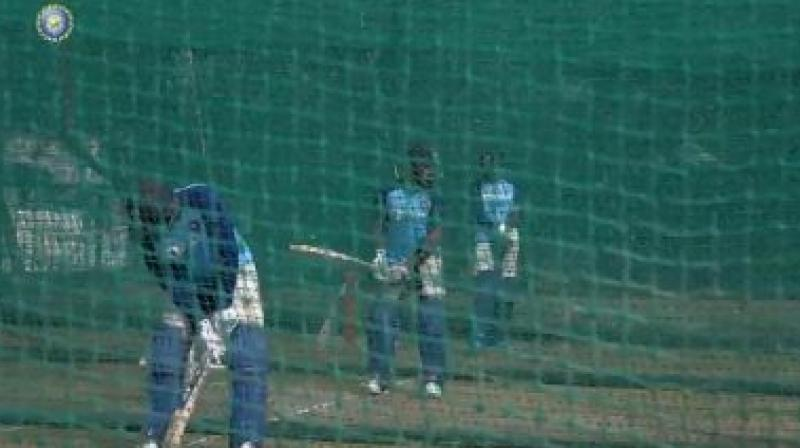Ahead of the first T20I against West Indies, Indian players were on Thursday seen toiling at Rajiv Gandhi International Stadium in Hyderabad to prepare for the match against the visitors. (Photo:BCCI)