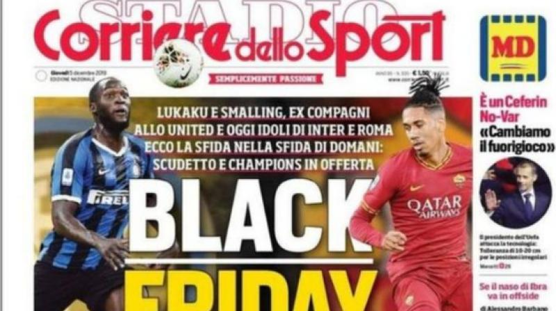 Italian sports daily Corriere dello Sport has described the backlash over its controversial 'Black Friday' headline as a 'lynching'. (Photo:Twitter)
