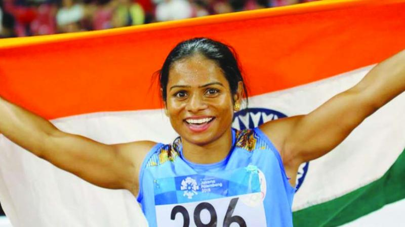 Sprinter Dutee Chand on Tuesday announced that she has been selected in the 25-member team for upcoming Doha World Championships, slated to begin from September 27 this year. (Photo: File)