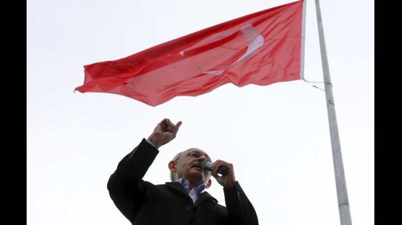 Kilicdaroglu, 70, of the Republican People's Party (CHP) was attacked on Sunday by a mob. (Photo:AP)