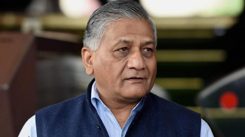 Minister of state for external affairs Gen. V.K. Singh (Retd), a former Chief of Army Staff  (Photo: PTI)