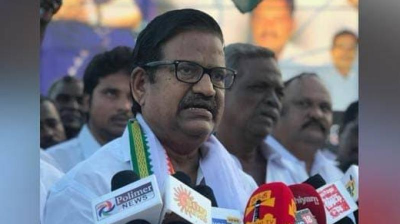 Talking to reporters at the airport here, TNCC president K S Azhagiri said Prime Minister Narendra Modi was changing his political stance, sensing fear and unnecessarily raising the issue about Rahul Gandhi and his citizenship. (Photo: Facebook I KL Alagirl)