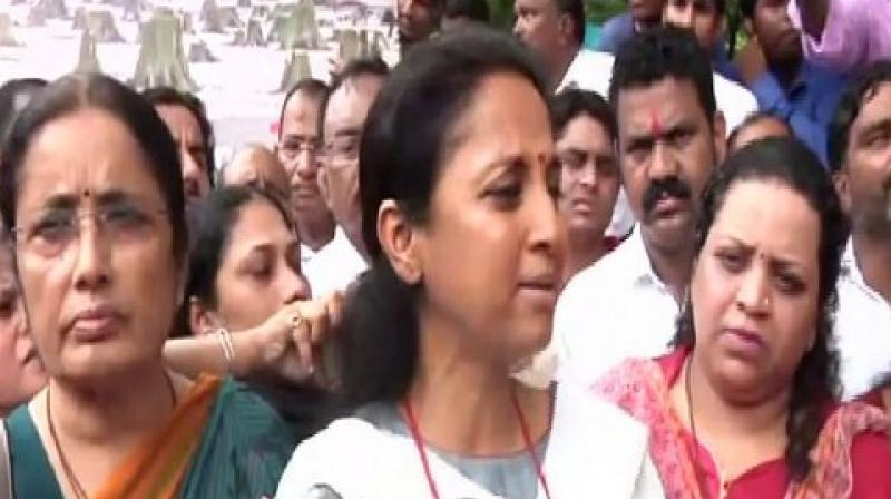 Sule said that she will meet the Chief Minister and ask him to listen to the protesters.  (Photo: ANI)