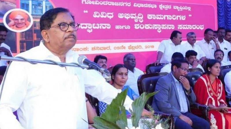 Speaking at a programme in Davangere, Parameshwara, a Dalit, said, Basavalingappa missed the chief ministerial post and so did K H Ranganath. (@DrParameshwara/Twitter)