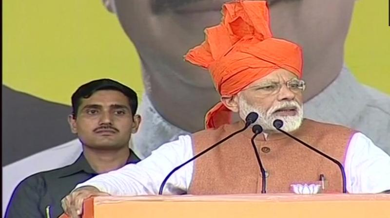 Modi blamed Cong, NC, PDP for the problems that the people of the valley are facing today. (File: ANI)