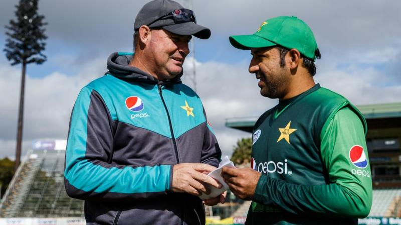 According to a source, Mickey Arthur suggested to the members that Shahdab Khan should replace Sarfaraz Ahmed as captain in the limited-over formats while Babar Azam should be given the reins of the Test side. (Photo:AFP)