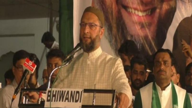 The AIMIM leader, however, also slammed RSS chief Mohan Bhagwat at the same rally, by stating that India never had been a 'Hindu Rashtra' nor will he and AIMIM let it become one. (Photo: ANI)
