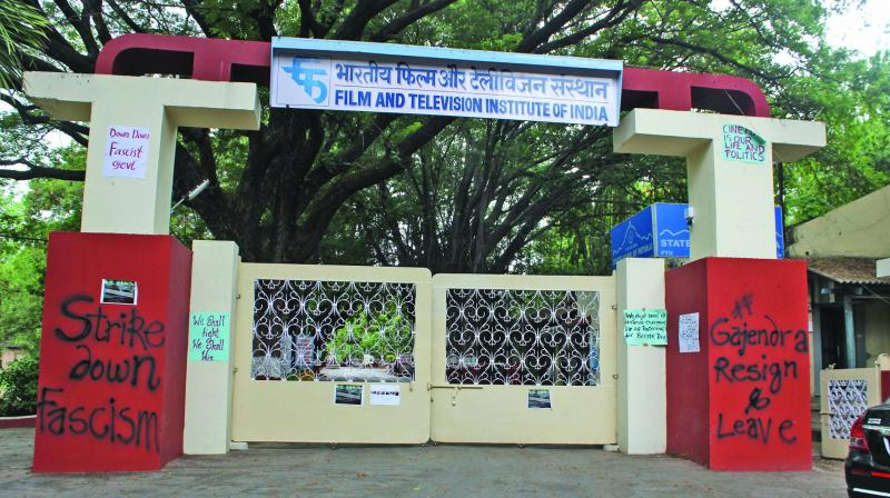 Students allege that the institute wants to censor their programmes and keep an eye on them.