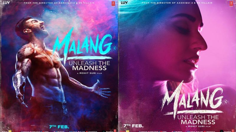 Aditya Roy Kapur and Disha Patani featuring in 'Malang' posters. (Photo: Twitter)
