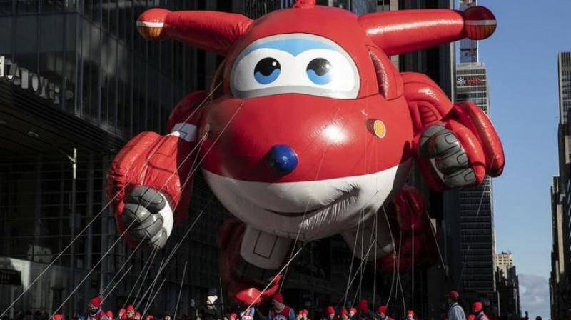 Jett by Super Wings balloon makes its way down New York's Sixth Avenue during the Macy's Thanksgiving Day Parade, Thursday, Nov. 28, 2019, in New York. (Photo: AP)
