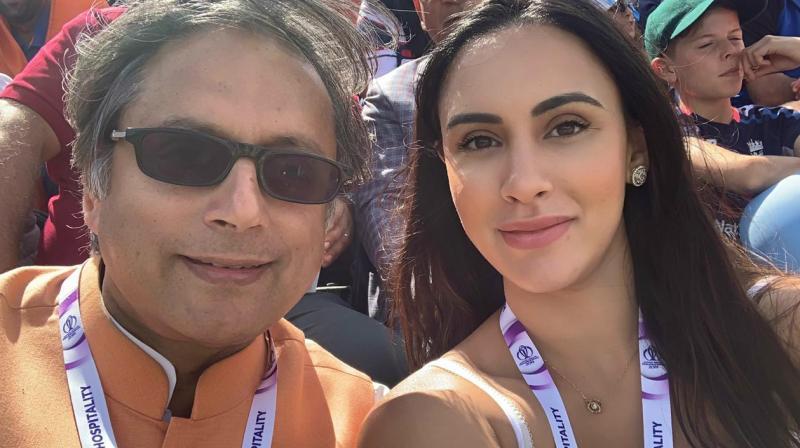 Deana Uppal with Shashi Tharoor.