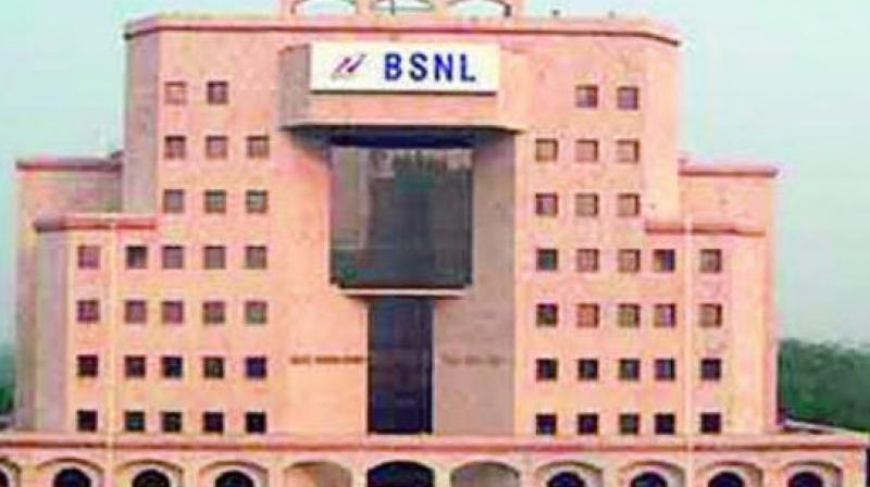 The number of employees of BSNL stands at 1,65,179 and total employees' cost is a staggering 75 pc of it's total income.