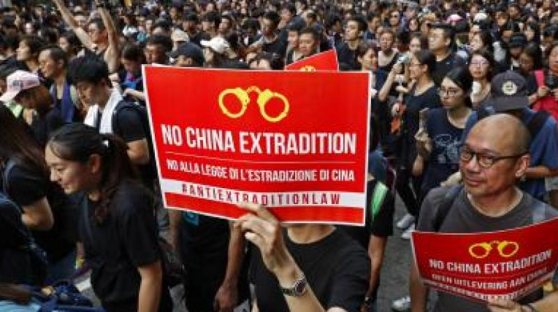 The semi-autonomous state has been shaken by huge demonstrations against a controversial extradition bill which many fear could be used to deport political activists and dissidents to mainland China. (Photo: AP)