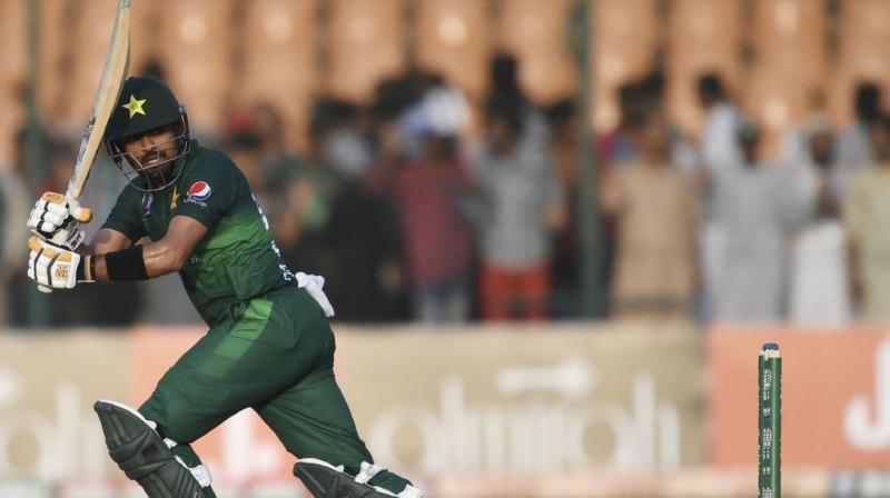 Pakistan player Babar Azam has surpassed India skipper Virat Kohli to become the third-fastest batsman to register 11 ODI centuries. (Photo:AFP)