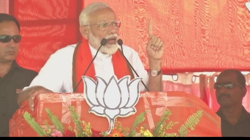 'His wife Rabri Devi, daughter Misa Bharti and son Tejashwi Yadav are among those named as co-accused in the case and a number of their alleged benami properties in Patna,' Modi said.  (Photo: ANI)
