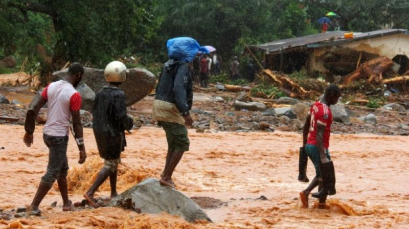 The government of Sierra Leone, one of the poorest countries in the world, has promised relief to more than 3,000 people left homeless (Photo: AFP)