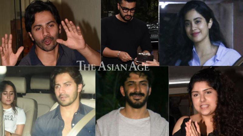 The birthday celebrations of Arjun Kapoor carried on throughout the day at his residence in Mumbai on Tuesday. (Photos: Viral Bhayani)
