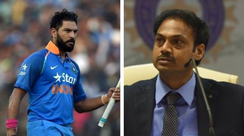 After former Indian wicket-keeper Farokh Engineer made surprising remarks about the current BCCI selection panel, India's former left-handed batsman Yuvraj Singh has also criticised the MSK Prasad's national selection panel. (Photo:AFP)