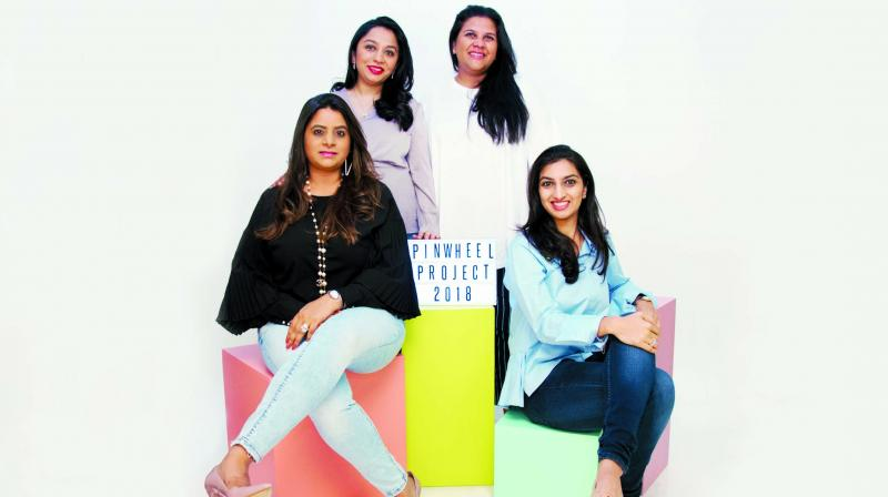 (L to R) Shouger Merchant, Ragini Vakil, Nidhi Chopra and Aditi Kapur, co-founders of the Pinwheel Project
