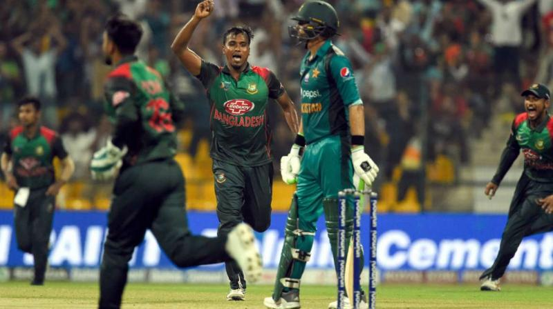 Bangladesh Cricket Board (BCB) has shown its willingness to tour Pakistan for three T20Is but is reluctant to play two Tests. (Photo:AFP)