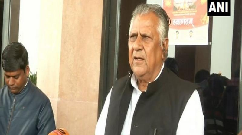 'I would like to appeal to Bainsla Ji to send team for dialogue, will discuss how their demands can be met within Constitutional limits,' Rajasthan Minister Bhanwar Lal said. (Photo: ANI)
