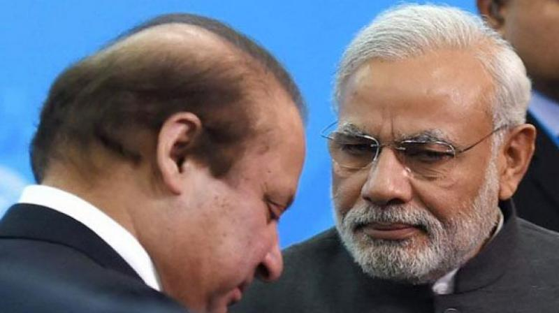 Prime Minister Narendra Modi with his Pakistani counterpart Nawaz Sharif. (Photo: PTI)