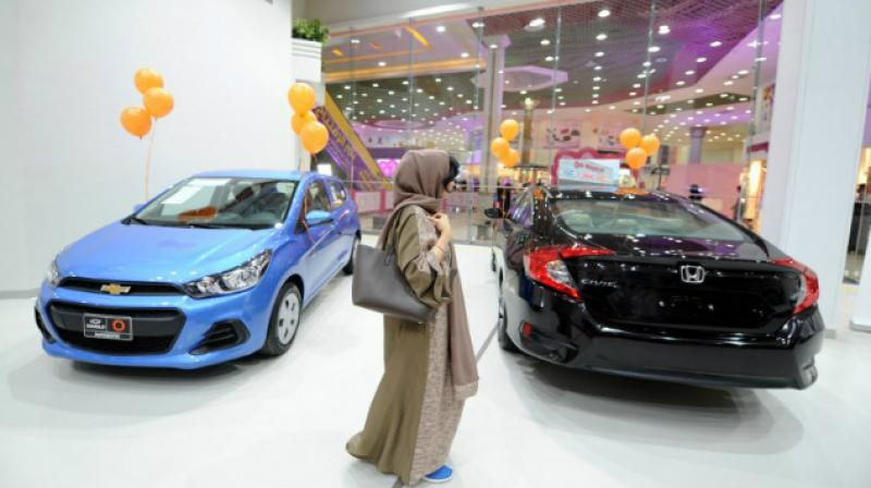 The showroom offers a wide selection of vehicles from various makes and is staffed by women only. (Photo: AFP)