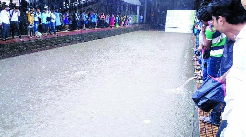 File picture of waterlogging at Sion station.