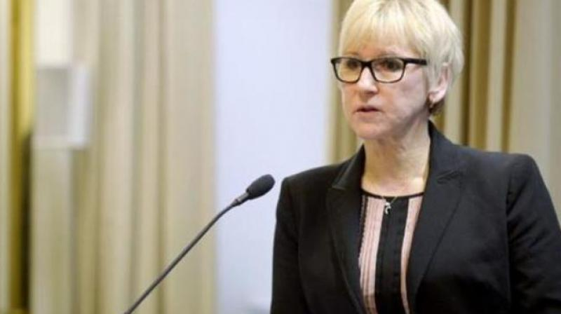 Swedish Foreign Minister Margot Wallstrom. (Photo: AFP)