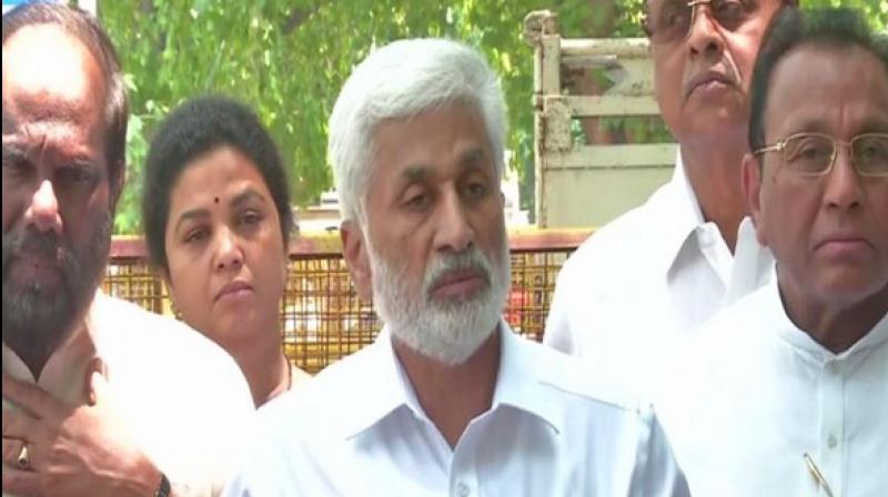 YSRCP general secretary Y Vijaysai Reddy (Photo: ANI)