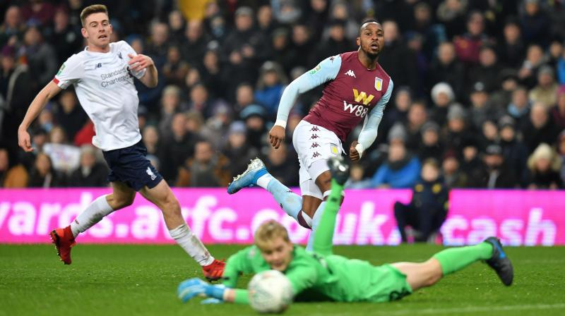Aston Villa beat Liverpool's youngest-ever side 5-0 with a double by Jonathan Kodjia helping them into the League Cup semi-finals on a strange night at Villa Park on Tuesday.  (Photo:AFP)