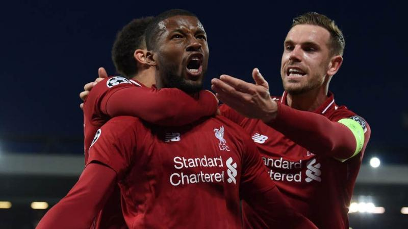 Liverpool coach Juergen Klopp on Tuesday confirmed that midfielder Georginio Wijnaldum will be missing the side's upcoming semi-final match of the FIFA Club World Cup. (Photo:AFP)