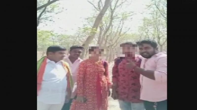 Activists saw the couple on the park, forced them to marry and sent them to their home. (Photo: ANI   Twitter)