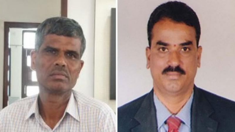 The duo was arrested from their residence and teams seized ACB ID cards from their possession. (Photo: ANI)