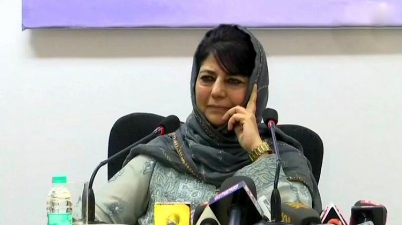 Hitting out at the government's move to withdraw the security of separatist leaders, Mehbooba called it a 'childish act'. (Photo: ANI)