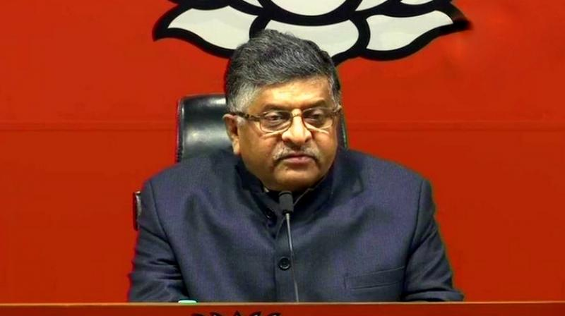'Elections are not about mathematics but chemistry,' Union Minister Ravi Shankar Prasad also said. (Photo: ANI | File)