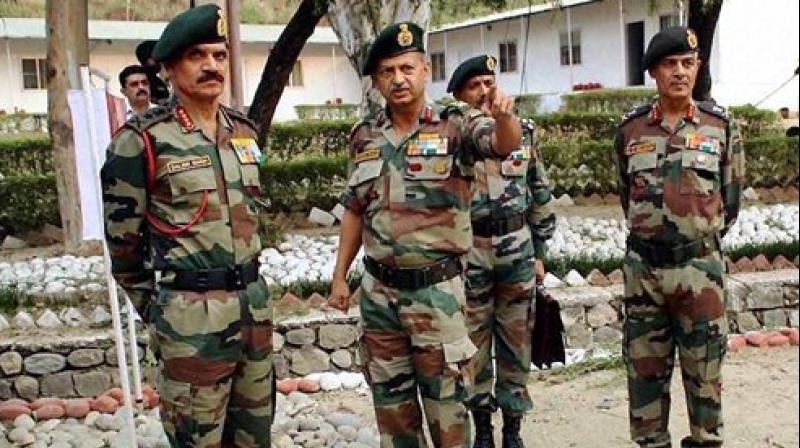 Army Chief Gen Dalbir Singh Suhaag vists encounter site day after militant attacked at the Army camp in Nagrota near Jammu. (Photo: PTI)
